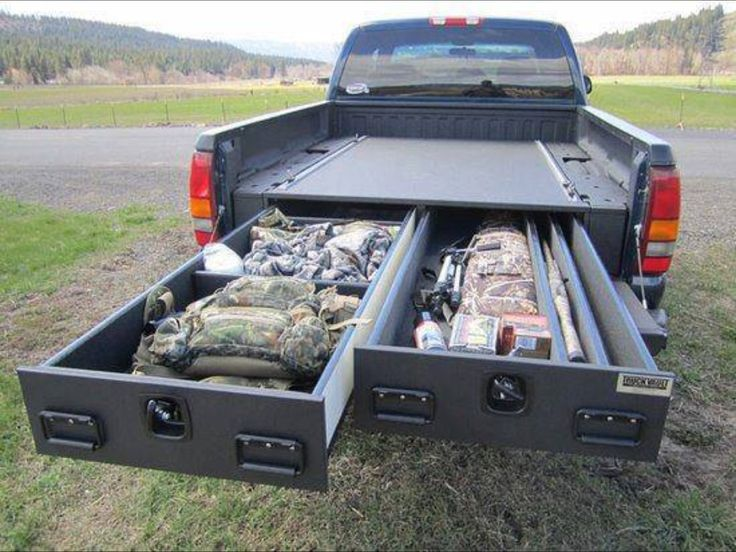 Image of: Big Truck Bed Storage Drawers
