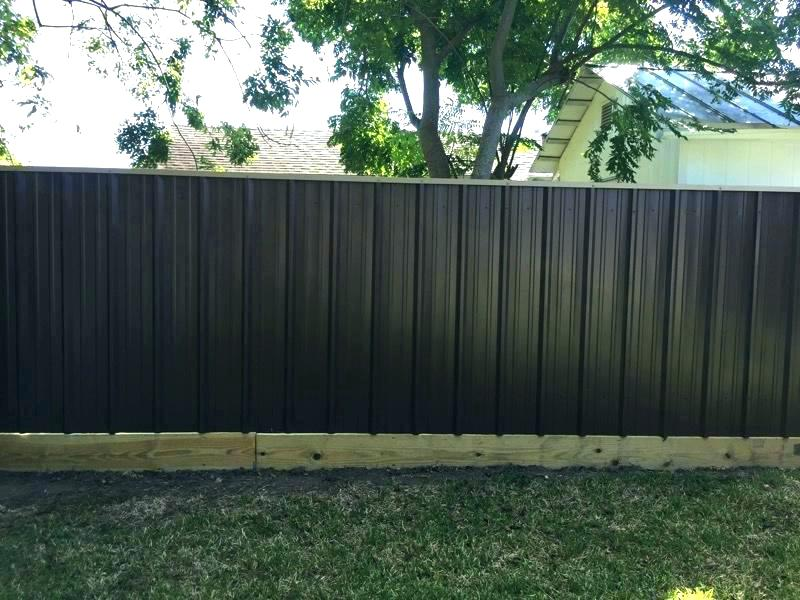 Image of: Black Corrugated Metal Fence