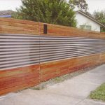 Black Metal Privacy Fence