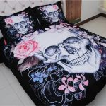 Black Sugar Skull Bed Set