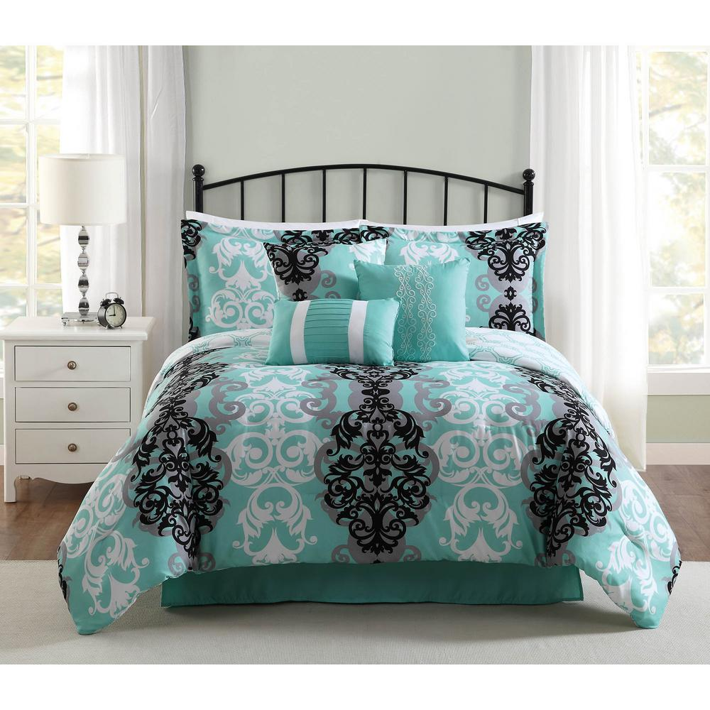 Picture of: Black Teal Bedding Sets Queen