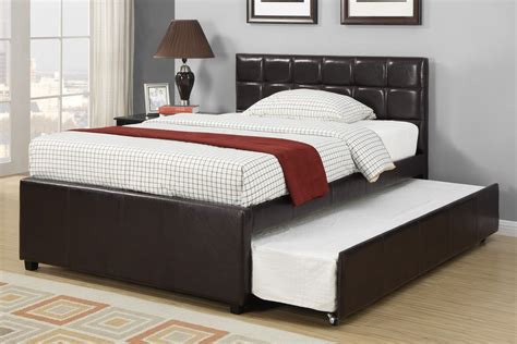 Image of: Black Twin Trundle Bed with Storage