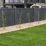 Black Wood Fence Design