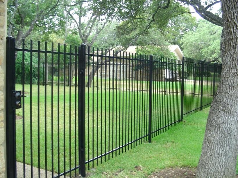 Black Wrought Iron Fence Panels
