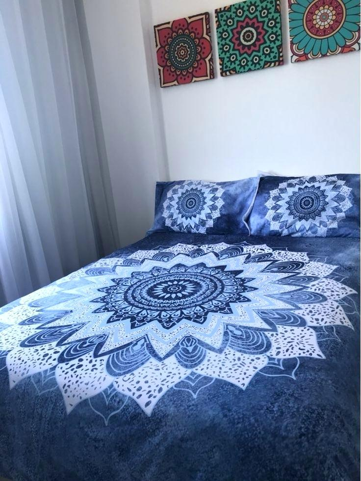Image of: Blue Hippie Bedding Sets