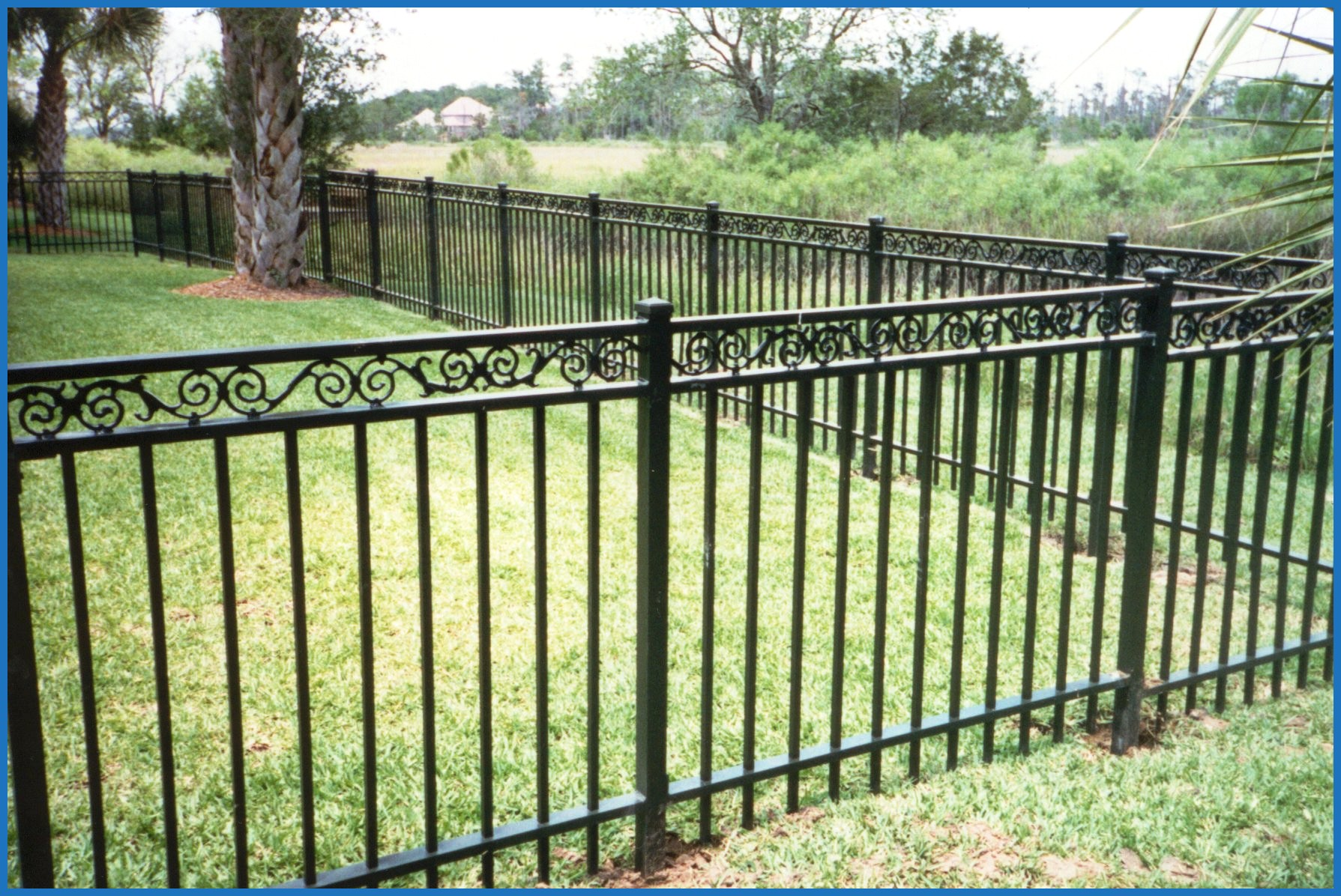 Picture of: Blue Plastic Snow Fence