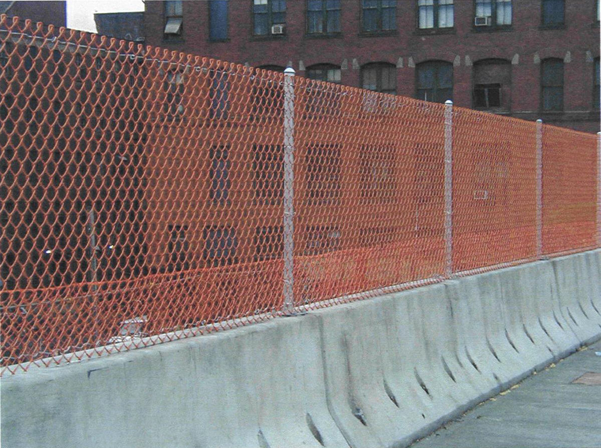Picture of: Brown Plastic Snow Fence
