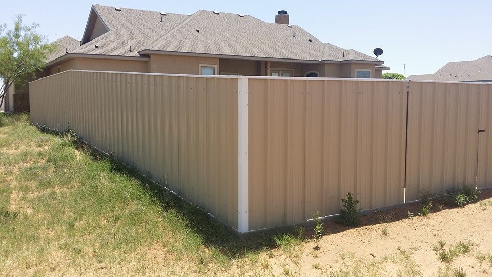 Build Metal Privacy Fence
