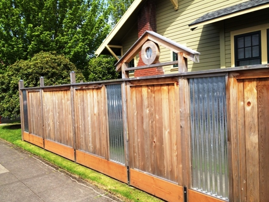 Building A Corrugated Metal Fence DIY