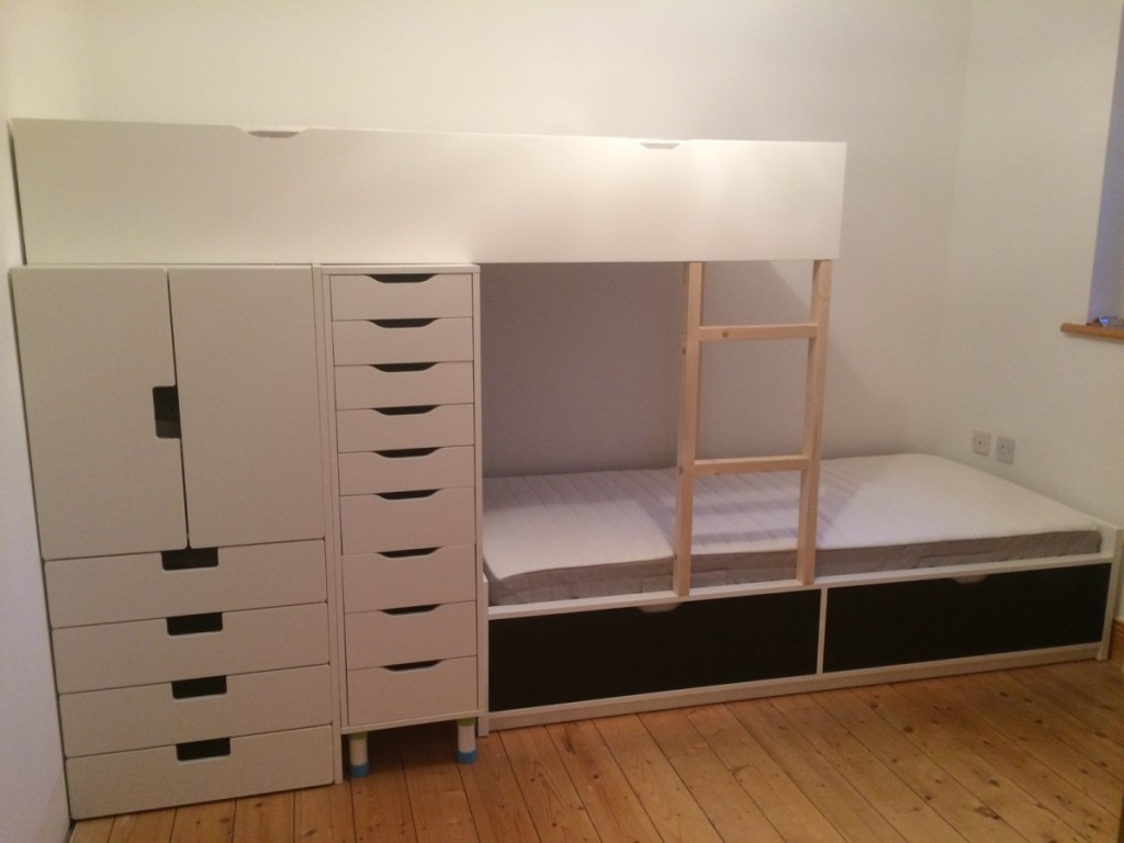 Bunk IKEA Hack Storage Bed