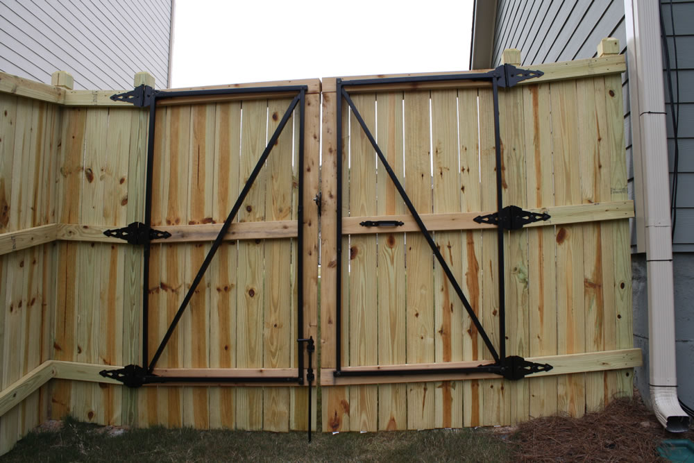 Picture of: Capped Wood Fence Gate Hardware