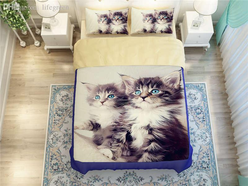 Cat Bedding Set 3D