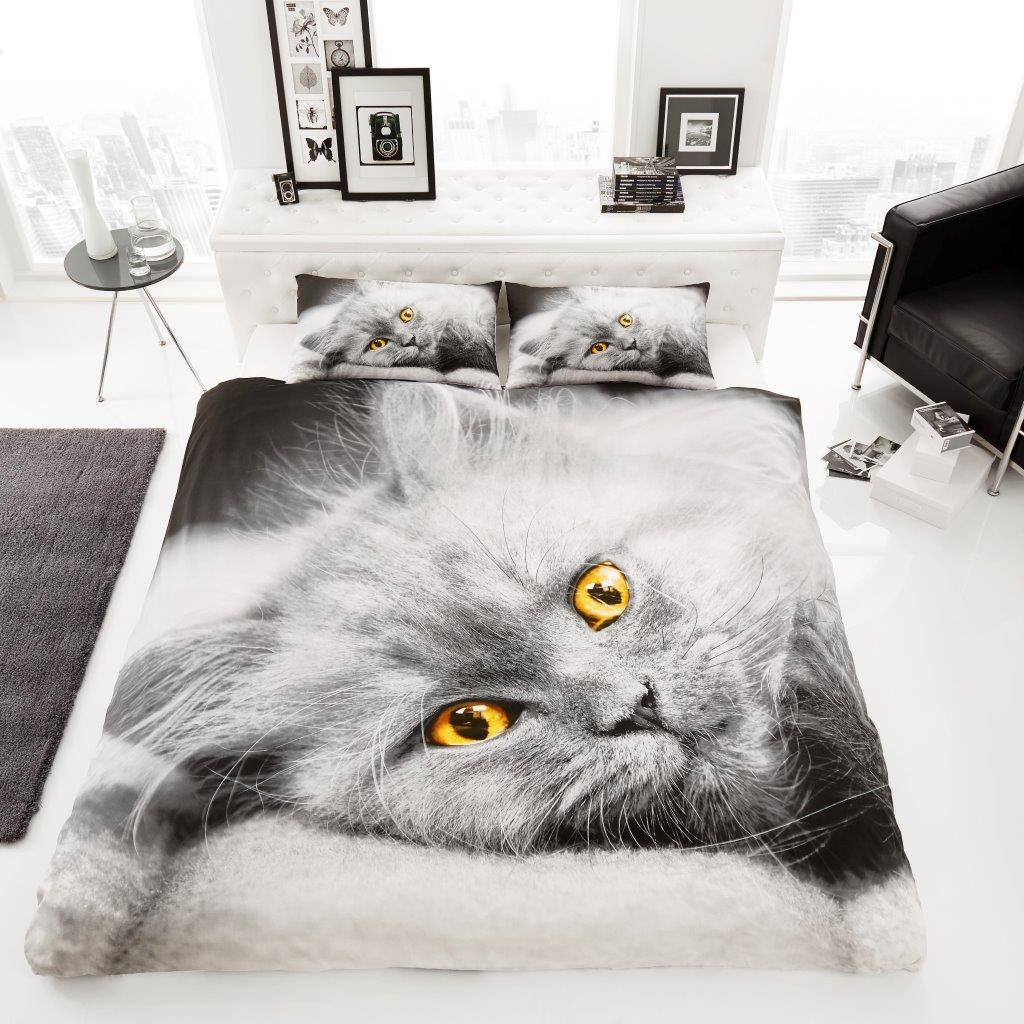 Image of: Cat Duvet Cover 3D
