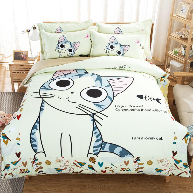 Image of: Cat Duvet Cover Cartoon