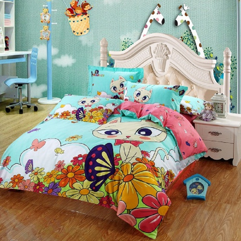 Image of: Cat Duvet Cover Kids