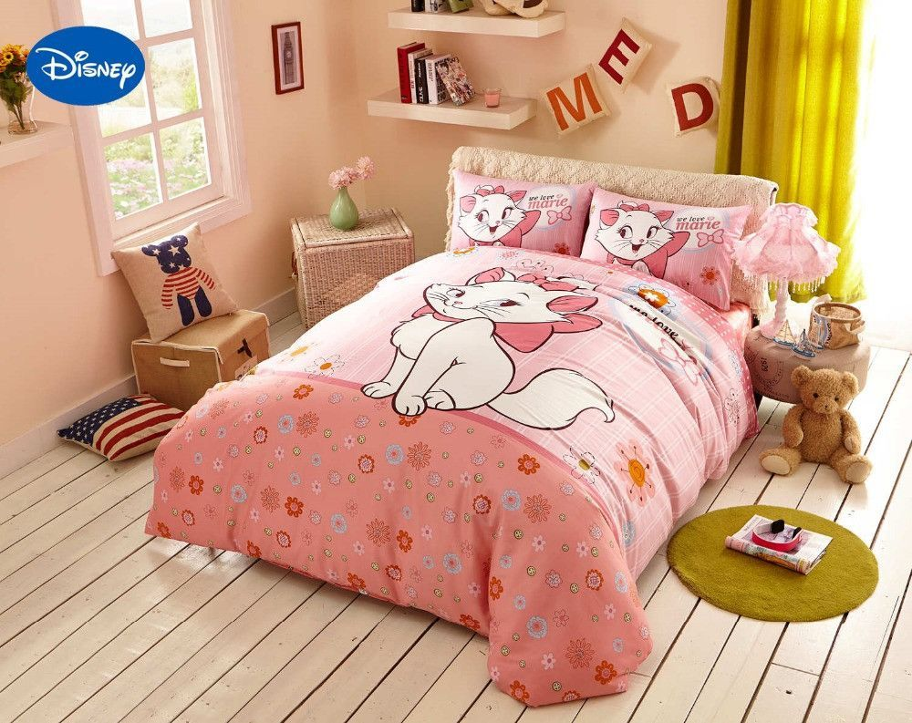 Image of: Cat Duvet Cover Pink