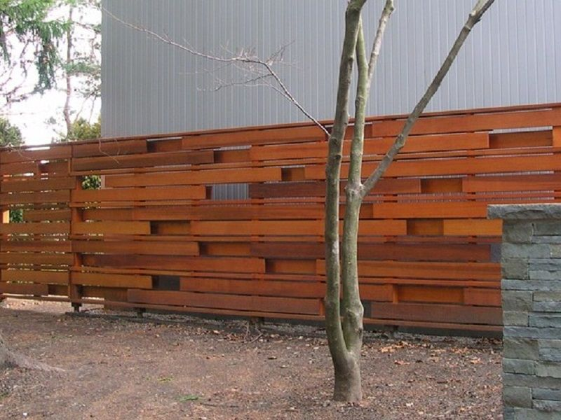 Picture of: Cheap Horizontal Fence Ideas