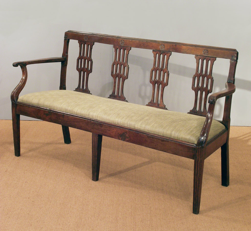 Picture of: Cherry Antique Wooden Bench