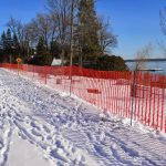Clear Plastic Snow Fence