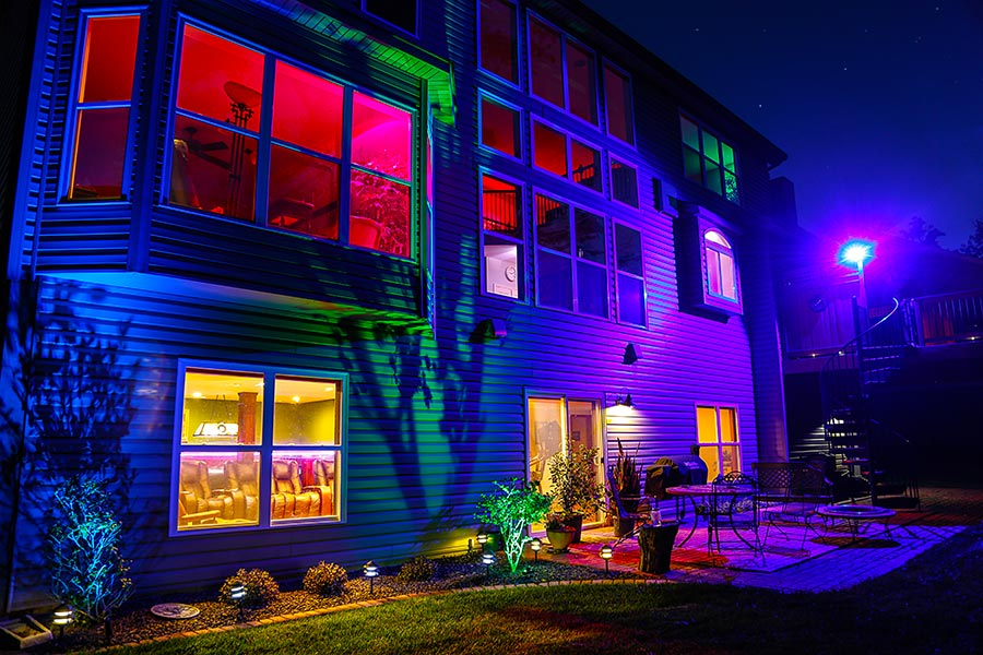 Picture of: Color Changing Outdoor LED Flood Light Fixtures