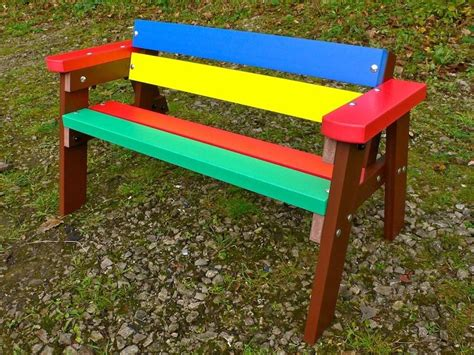 Picture of: Colorful Kids Wooden Bench