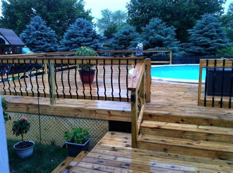 Combinations Above Ground Pool Fence Ideas