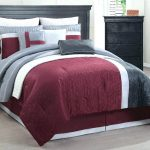 Comfy Red and Gray Comforter Sets