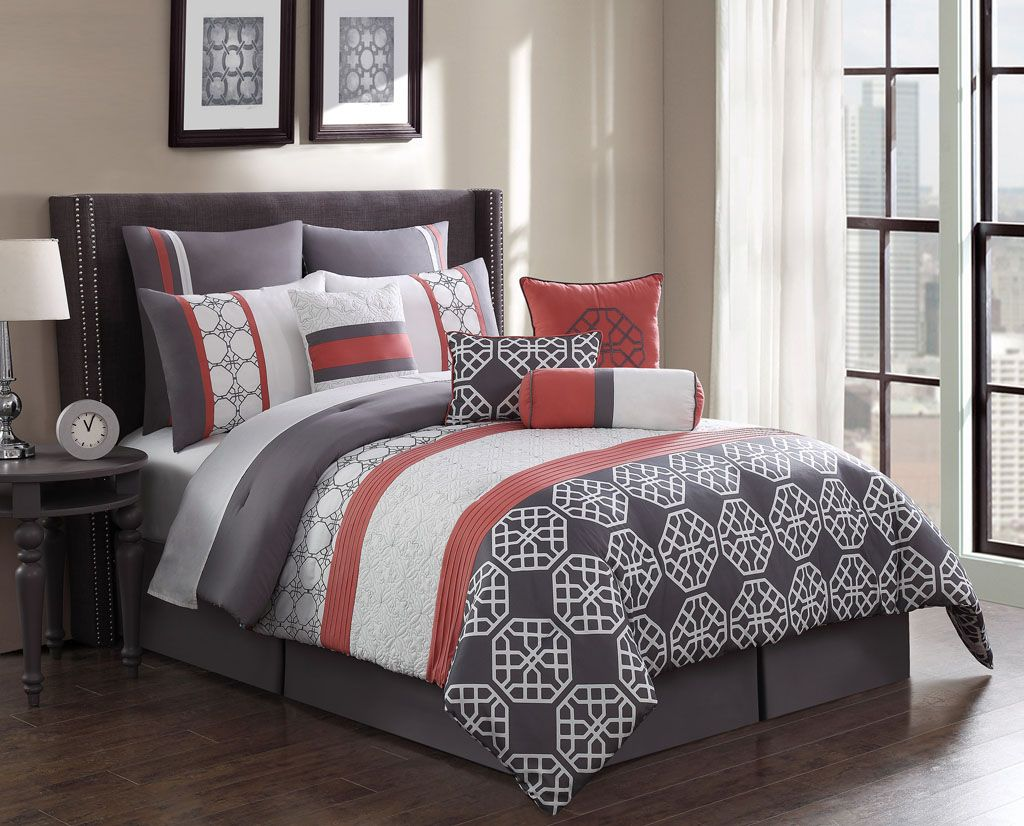 Coral Queen Comforter Set Clearance