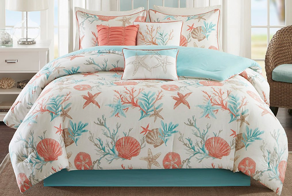 Coral Queen Comforter Set Closeouts
