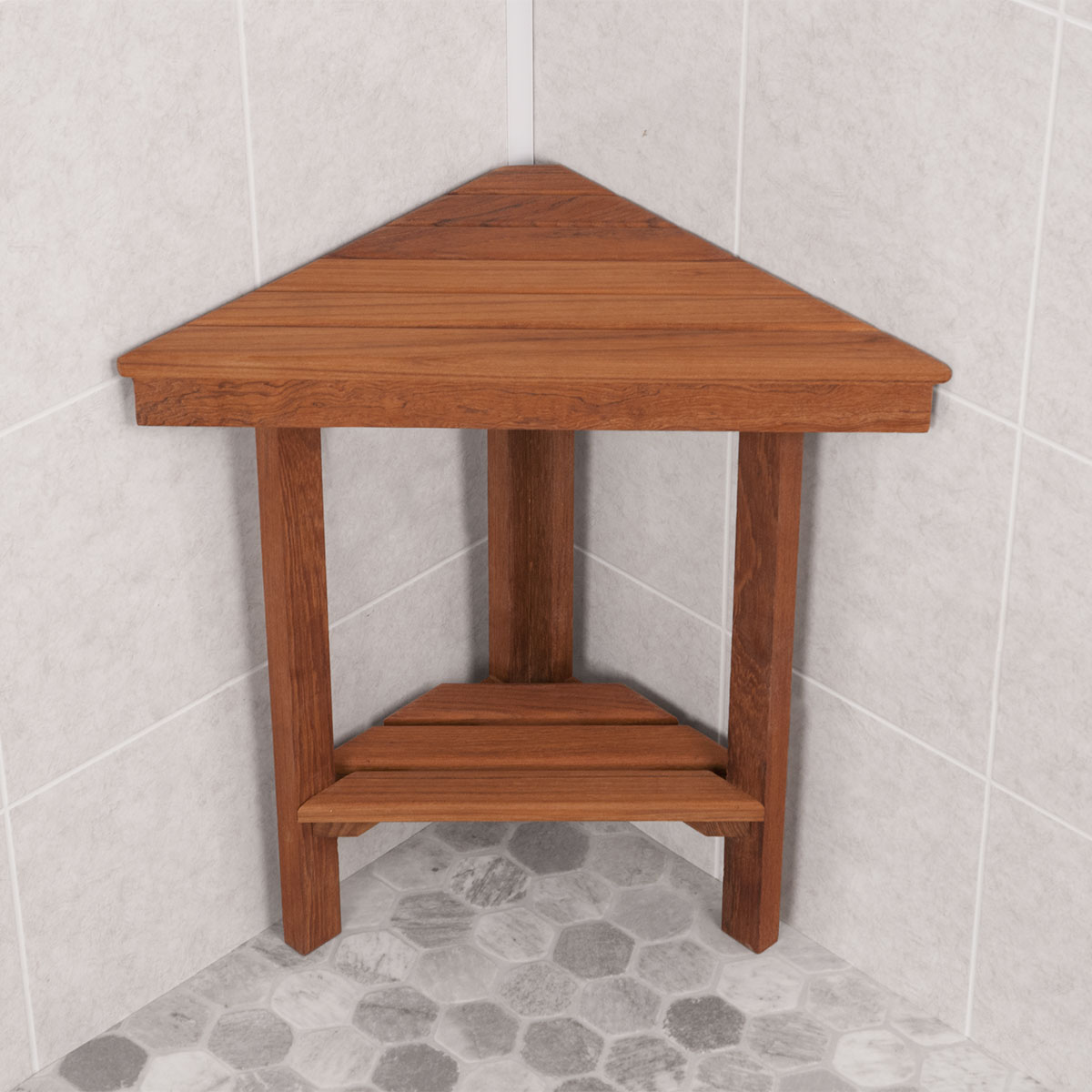 Picture of: Corner Small Wooden Bench