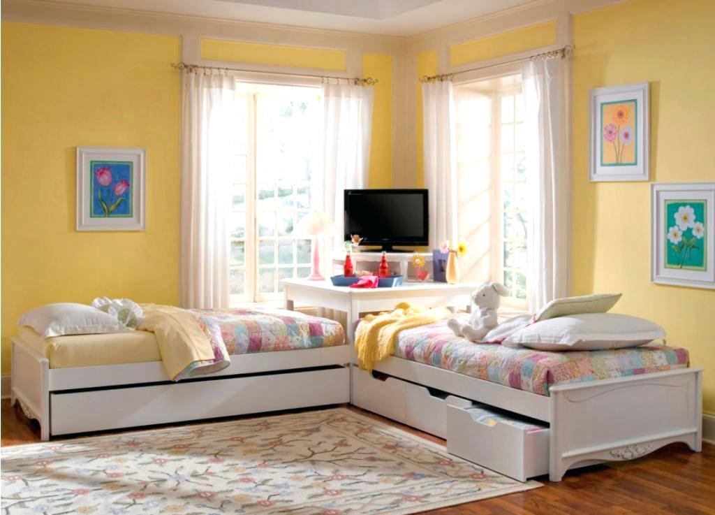 Corner Twin Beds With Storage Built In