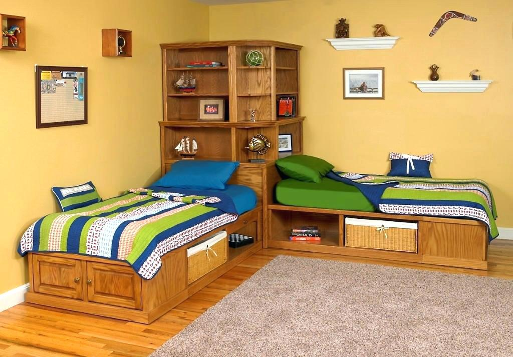 Corner Twin Beds With Storage Fantastic Furniture