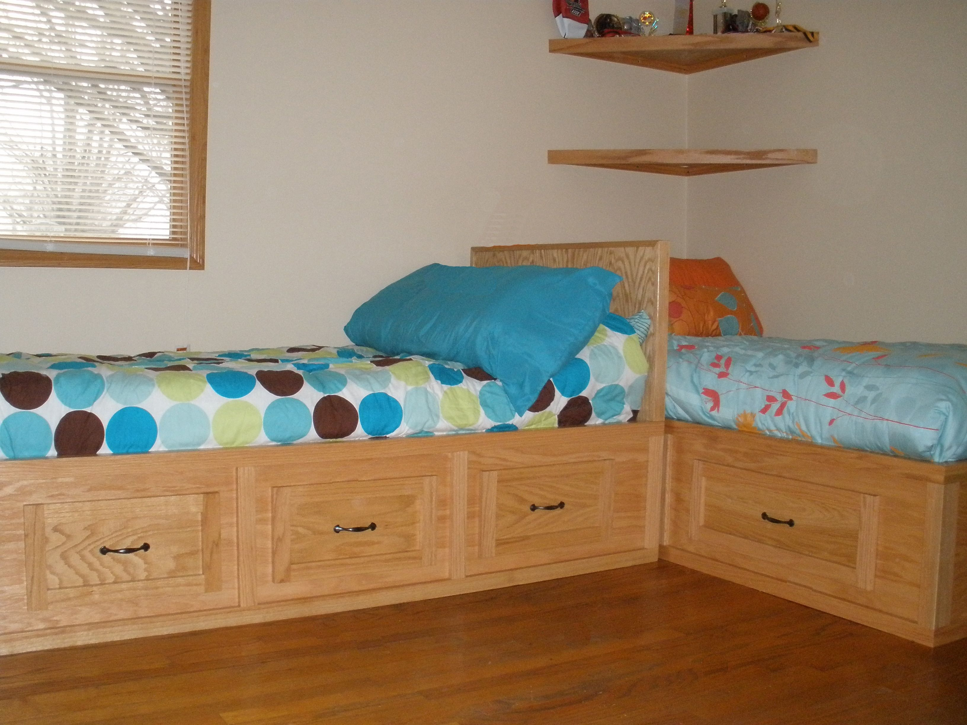 Corner Twin Beds With Storage Queen