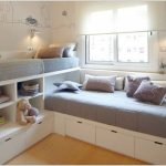 Corner Twin Beds With Storage Space Underneath