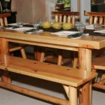 Corner Wooden Kitchen Table with Bench