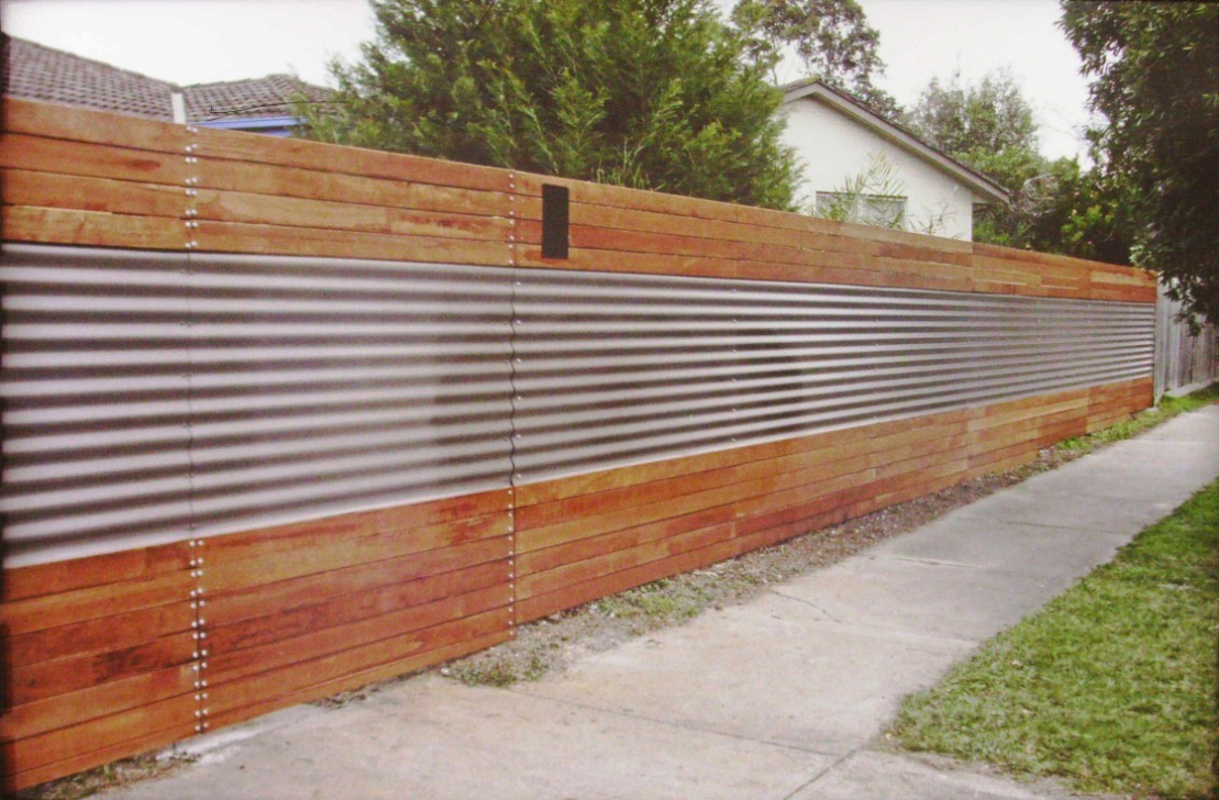 Image of: Corrugated Metal Fence Combine