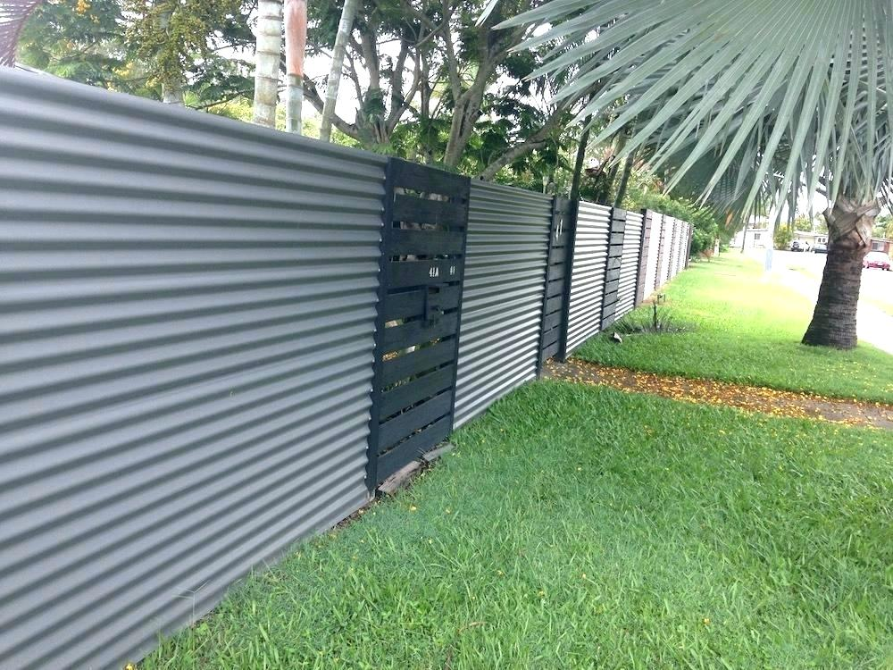 Image of: Corrugated Metal Fence DIY Panel