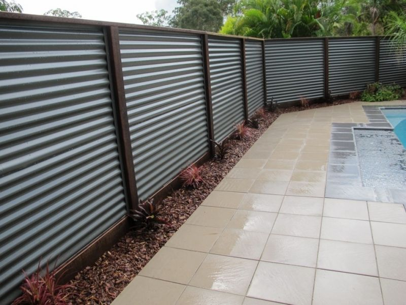 Image of: Corrugated Metal Fence Type