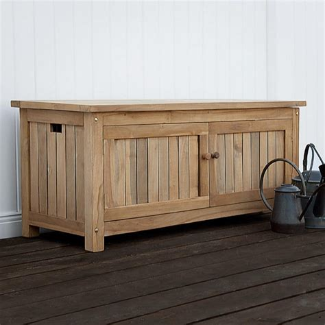 Picture of: Cottage Wooden Storage Bench
