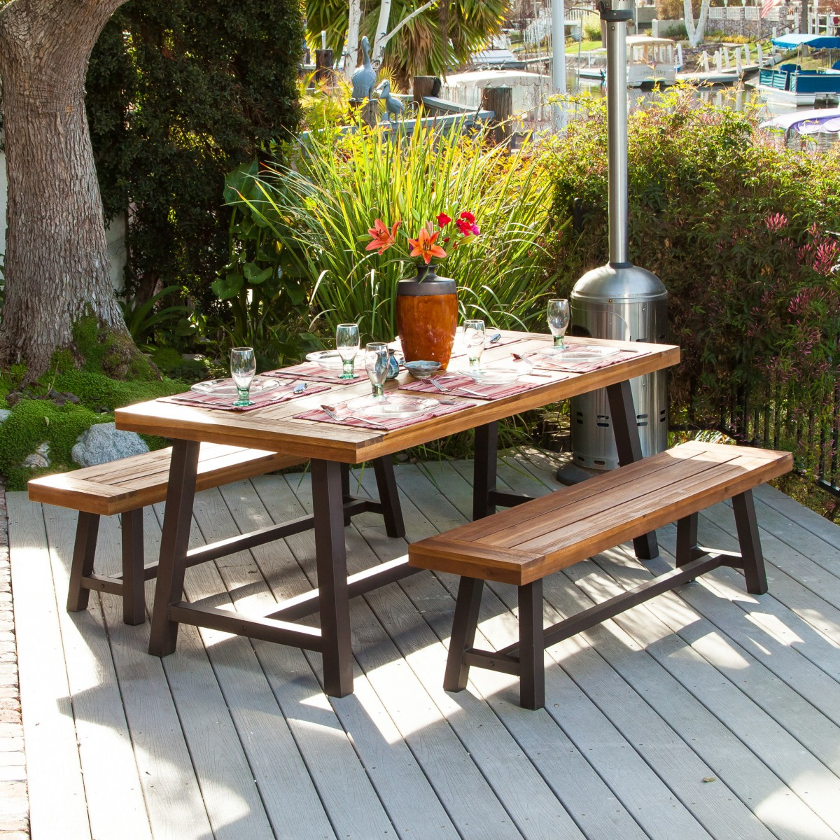 Cute And Functional Wooden Picnic Bench