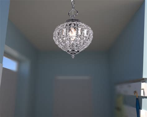 Crystal Motion Sensor Outdoor Ceiling Light
