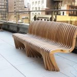 Curved Wooden Bench Modern