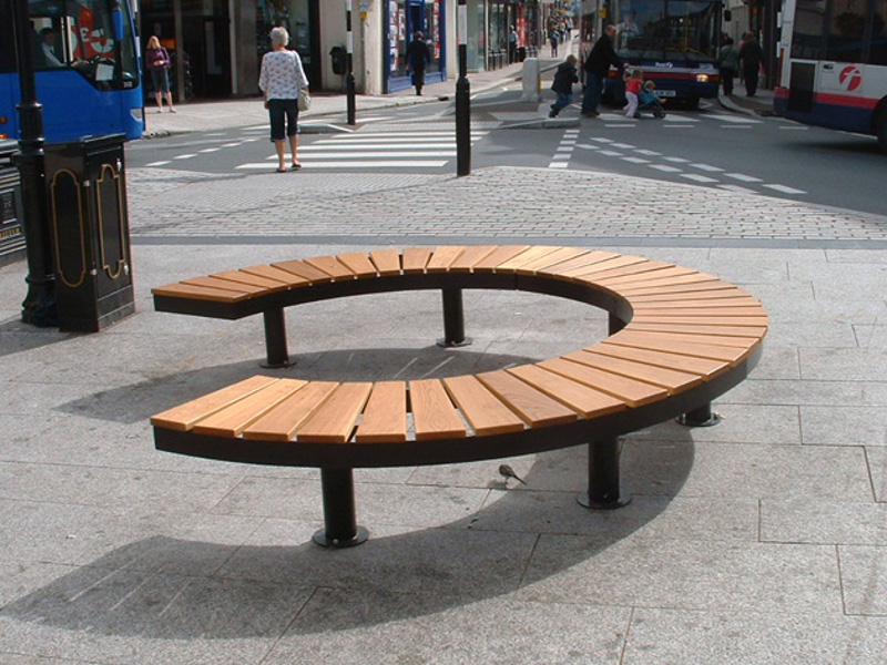 Picture of: Curved Wooden Bench Shapes