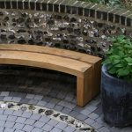 Curved Wooden Bench Small
