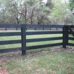 Custom Black Wood Fence