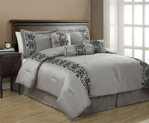 Image of: Custom Grey Comforter Sets King
