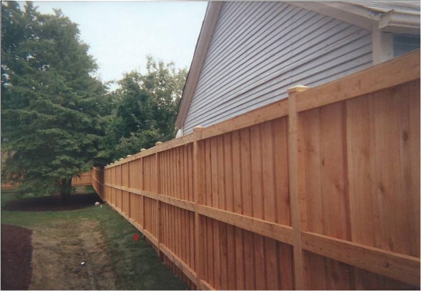 Picture of: Custom Steel Post for Wood Fence