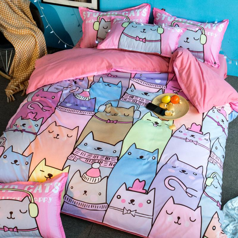 Image of: Cute Cat Duvet Cover