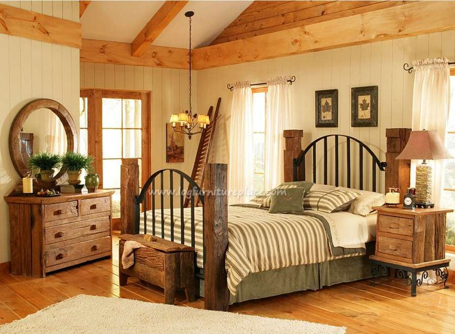 Rustic Country Bed Sets Ideas