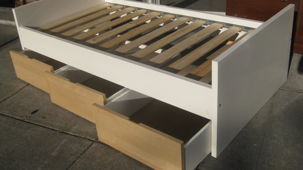 Image of: DIY Bed Frame with Storage Ideas